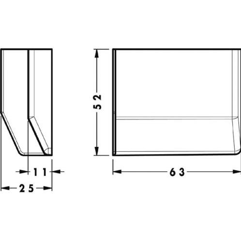 Заглушка для подвеса 801, серый, левая