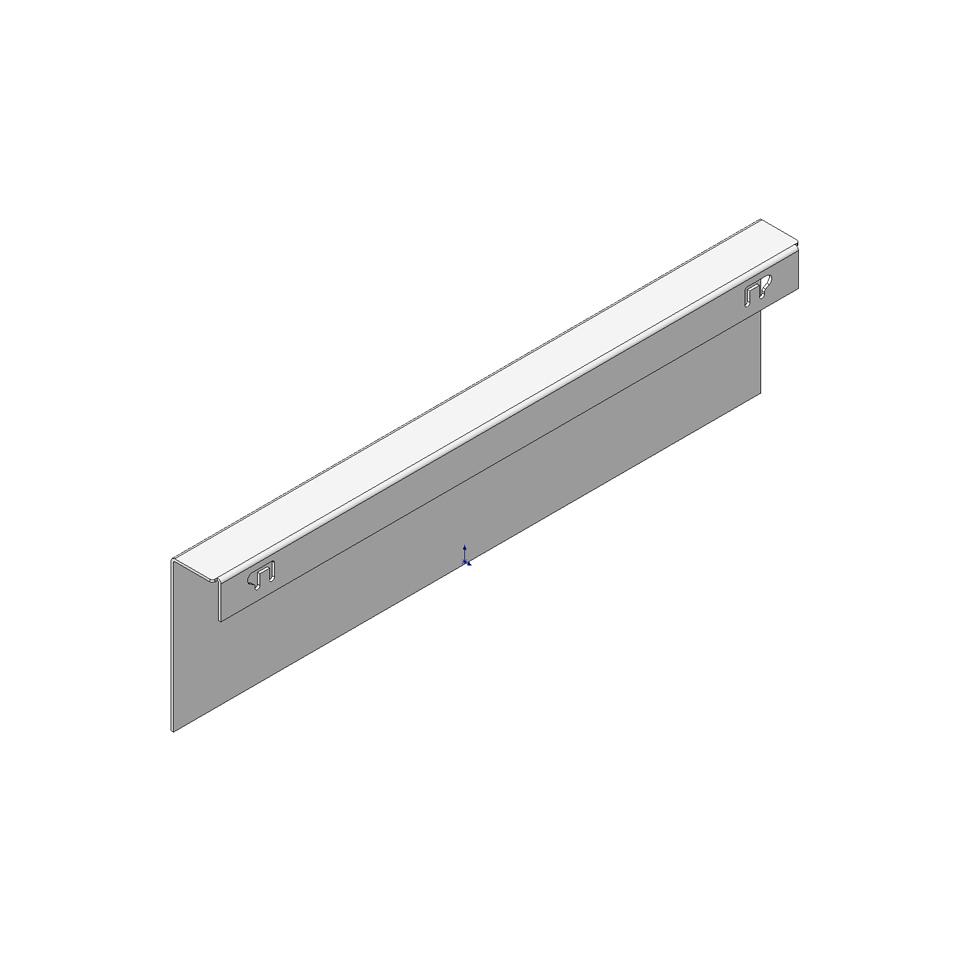 Адаптер для задней стенки из ДСП для LEGRABOX, высота М, терра-черный