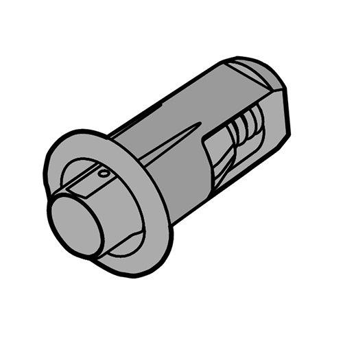 Амортизатор дистанционный d=5мм, тем.-серый