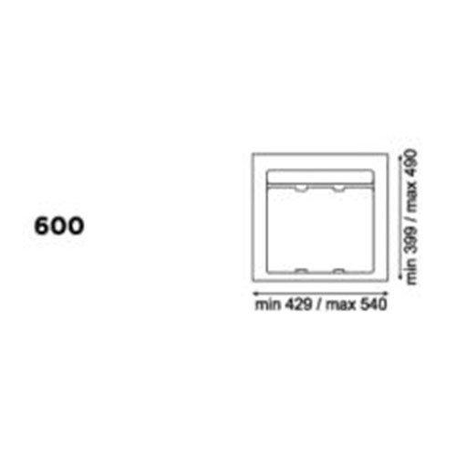 База 60см для контейнера 9XL (подрезка до 429х399мм), серый орион