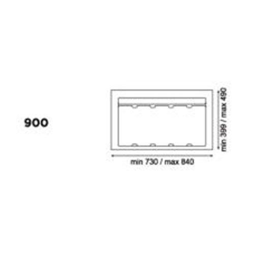 База 90см для контейнера 9XL (подрезка до 730х399мм), серый орион