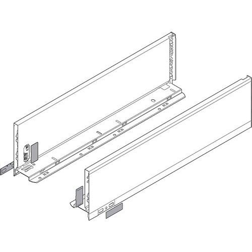 Боковина LEGRABOX K(128.5), L=450мм, лев+прав, белый шелк (+2загл.внеш+2загл.внутр)