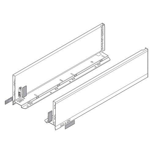 Боковина LEGRABOX K(128.5), L=500мм, лев+прав, терра-черный (+2загл.внеш+2загл.внутр)