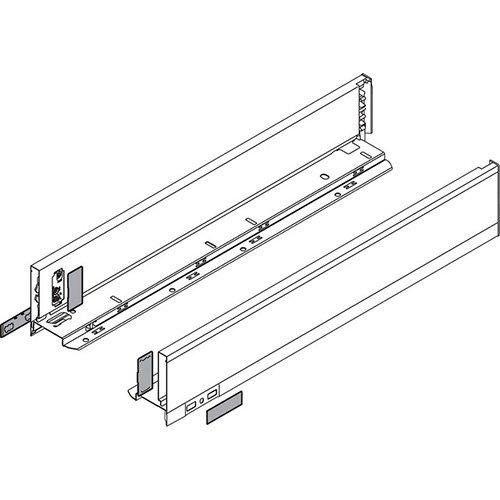 Боковина LEGRABOX M(90.5), L=550мм, лев+прав, белый шелк (+2загл.внеш+2загл.внутр)