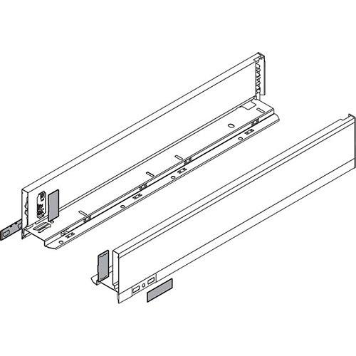 Боковина LEGRABOX M(90.5), L=650мм, лев+прав, белый шелк (+2загл.внеш+2загл.внутр)