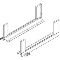 Боковина LEGRABOX M(90.5), L=650мм, лев+прав, терра-черный (+2загл.внеш+2загл.внутр)