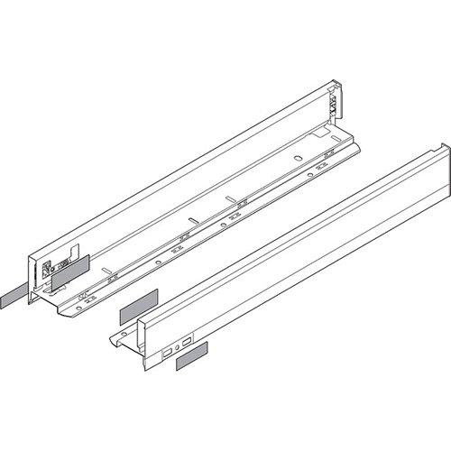 Боковина LEGRABOX N(66.5), L=500мм, лев+прав, белый шелк (+2загл.внеш+2загл.внутр)