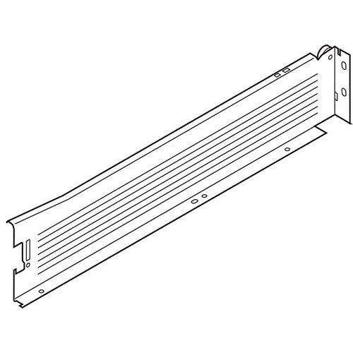 Боковина METABOX M (86мм),  L=500мм, левая, кр.-белый