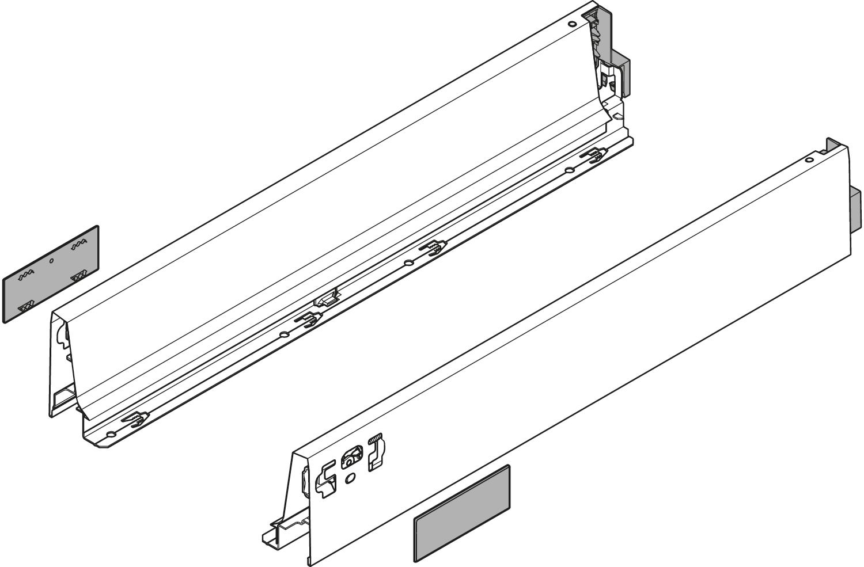 Боковина TANDEMBOX Antaro M (83,6 мм), L=270мм, лев.+прав., белый шелк