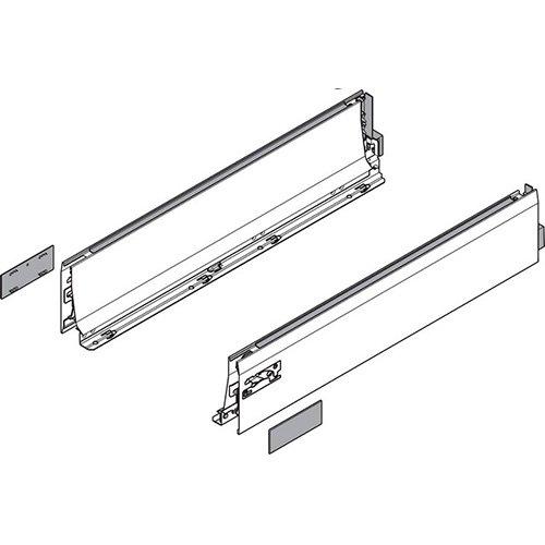 Боковина TANDEMBOX INTIVO L (101,4 мм), L=400мм, лев+прав, белый шелк