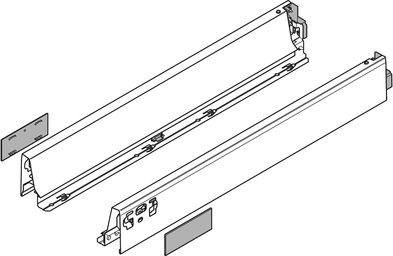 Боковина TANDEMBOX Antaro N (68,5 мм), L=400мм, лев+прав, белый шелк