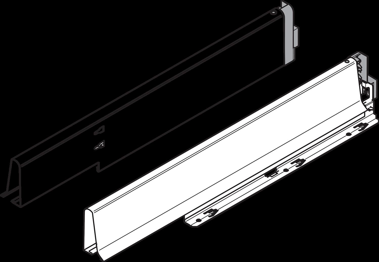 Боковина TANDEMBOX INTIVO L=550мм под мойку, лев.+прав, белый