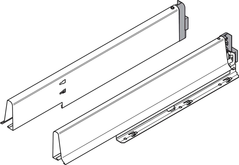 Боковина TANDEMBOX INTIVO L=550мм под мойку, лев.+прав, терра-черный