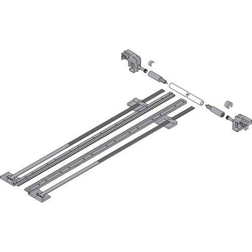 Боковой стабилизатор TANDEM до 410мм, ШК=1400мм, полн. выдвиж., под раскрой, тем.-серый