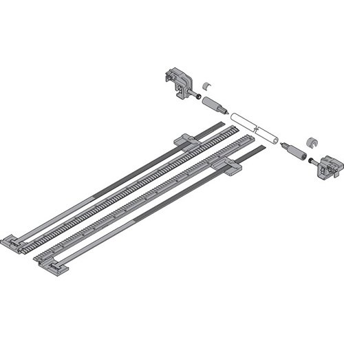 Боковой стабилизатор TANDEM до 750мм, ШК=1400мм, полн. выдвиж., под раскрой, тем.-серый