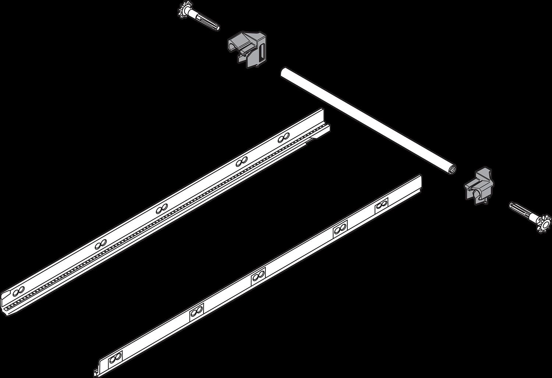 Боковой стабилизатор для Tandembox PLUS, 500мм (монтаж сзади)