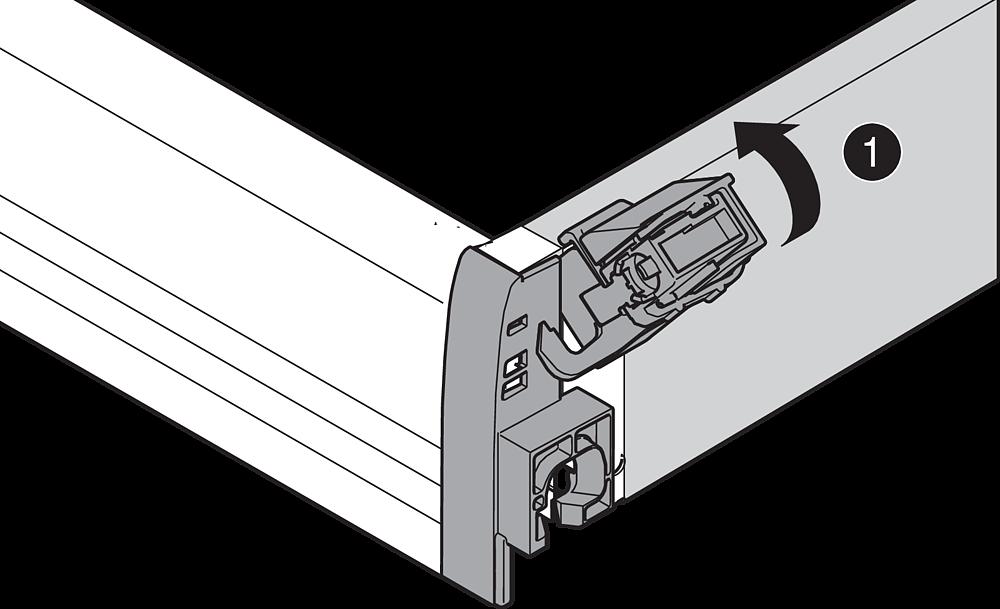 Боковой стабилизатор для Tandembox ANTARO и PLUS, 500мм (верх.монтаж)
