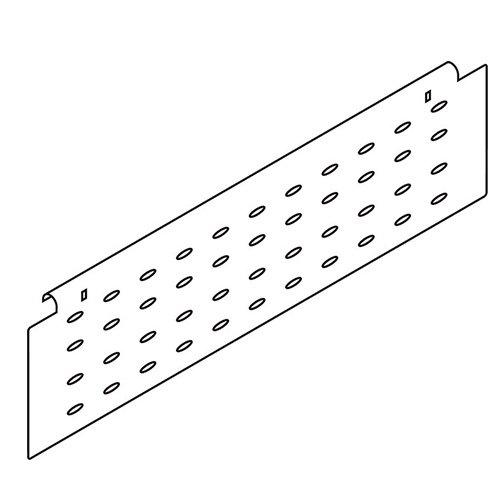 Боков.стенка перфор. H=128мм, L=400мм, кр.-белый