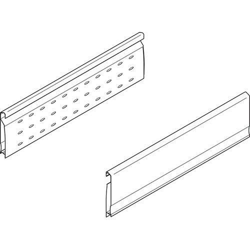 Боков.стенка перфор. Н=128мм, L=600мм, лев.+прав., серый