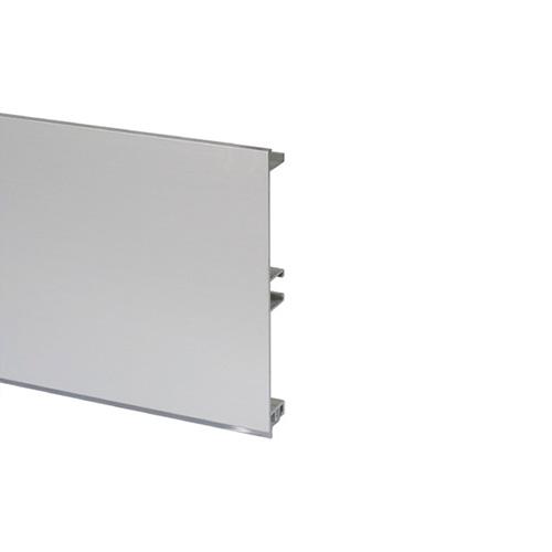Цоколь алюминиевый, H=100мм,  4м, цвет - Алюминий (стар.арт.20/30.400.PL07A)