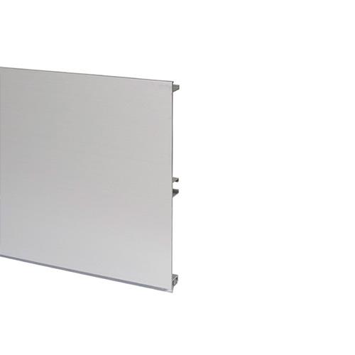 Цоколь алюминиевый, H=120мм,  4м, цвет - Алюминий (изм. на арт.20/12.400.PL07A)