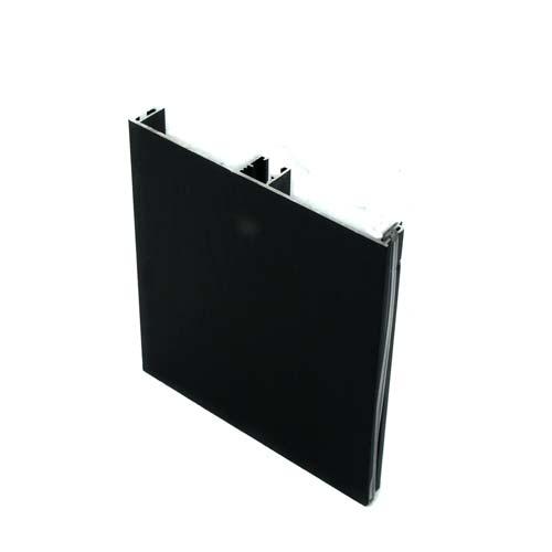 Цоколь алюминиевый 4200мм, Н-100мм, черный браш