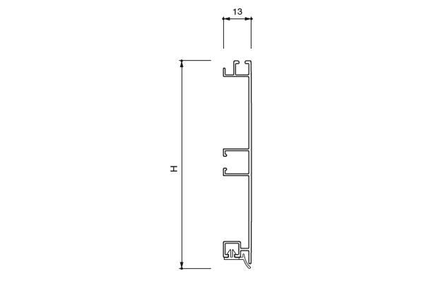 Цоколь алюминиевый, H=100мм,  4м, цвет - Нержавейка (стар.арт.20/30.400.PL04A)