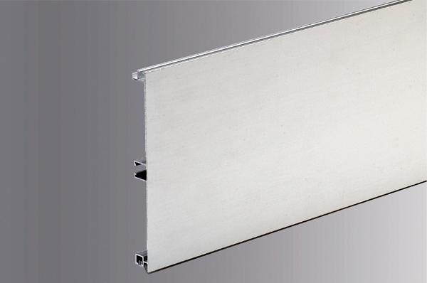 Цоколь алюминиевый, H=100мм,  4м, цвет - Нержавейка