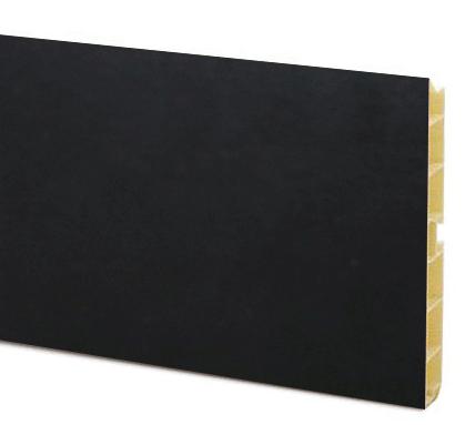 Цоколь на основе ПВХ, H=100мм, 4м, цвет - Черный глянец