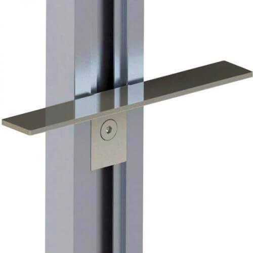Держатель для деревянных полок (пара), наклонный, L=160мм, алюминий