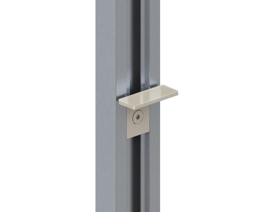 Держатель для стеклянных полок (пара), L=50мм, алюминий