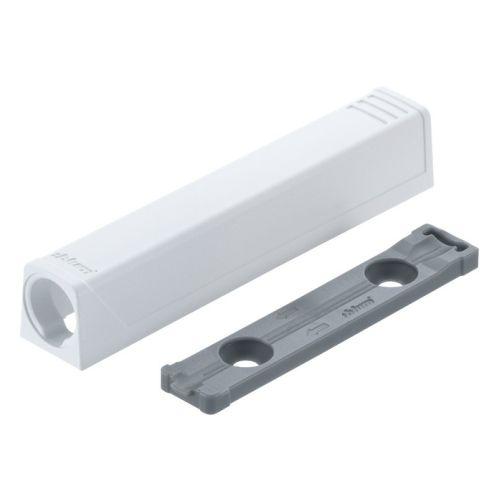 Держатель для Tip-On 20/32 длинный, прямой, белый шелк (с монтаж. планкой) (пластик)