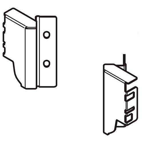 Держатель задней стенки для углового ящика, высота M, левый/правый, белый шелк
