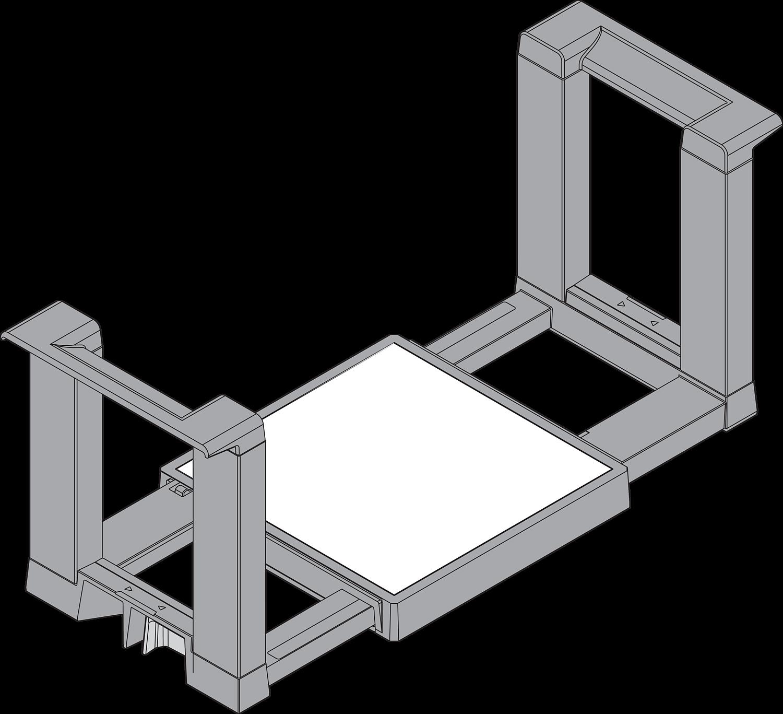 Держатель тарелок, прямоуг.форма, ОРИОН (пластик)