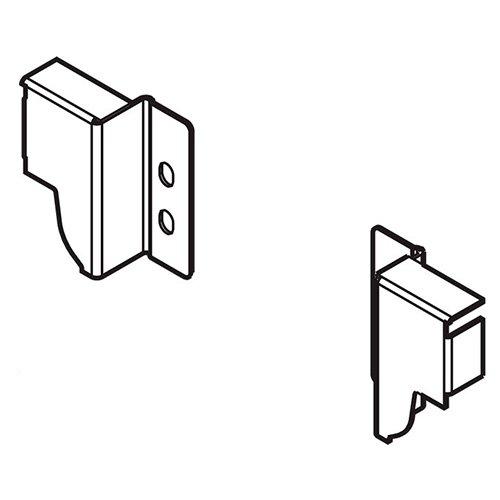 Крепл. задней стенки TANDEMBOX N (69 мм), лев.+прав., терра-черный