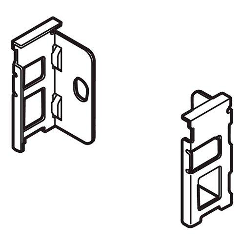 Держатель задней стенки LEGRABOX из ДСП, N(80), лев+прав, никель