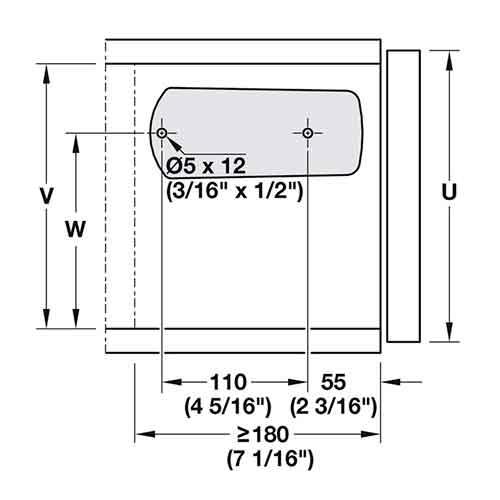 Фиксатор барный MICROWINCH с нагрузкой на 6 кг,серый