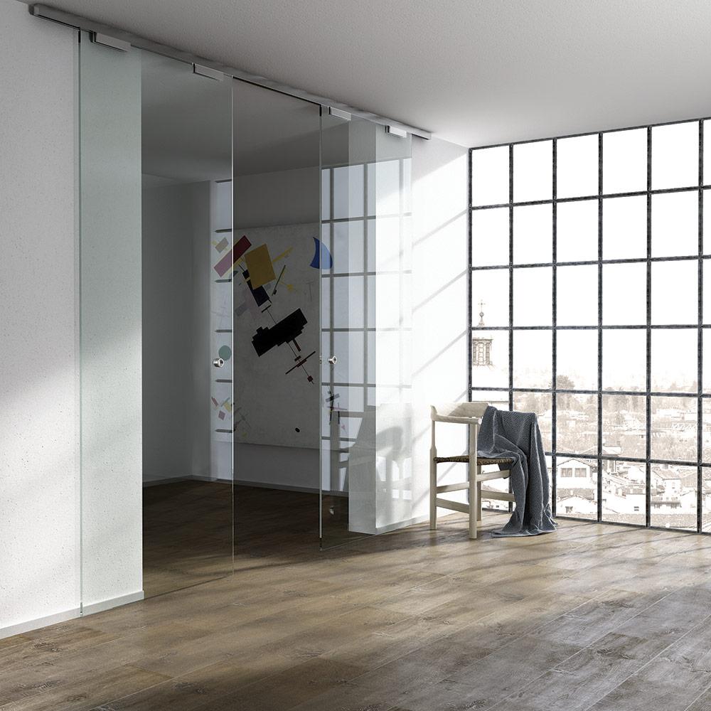 К-т держателей Vetro 40, стекло 10мм (1500 мм), алюминий