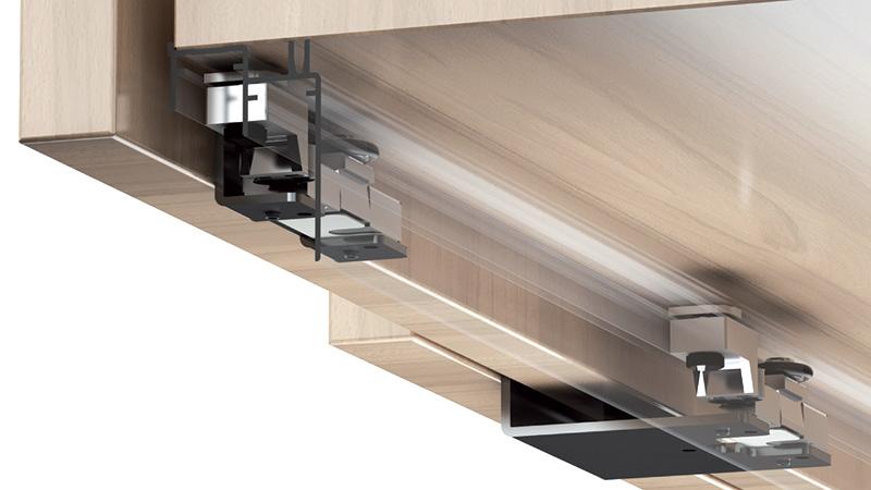 К-т для 2-х дверного шкафа  Space36 макс 28 мм, 80кг, AIR доводчик