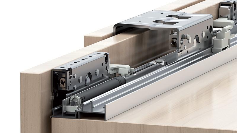 К-т для 3-х дверного шкафа  Space36 18 (макс 22) мм, 80кг, AIR доводчик