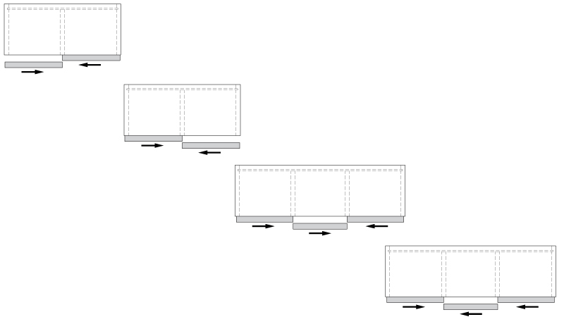 К-т для 3-х дверного шкафа  Space36 33мм, 80кг, AIR доводчик
