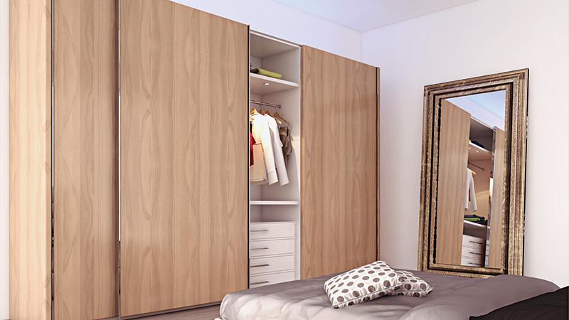 К-т для 3-х дверного шкафа  Space36 50мм, 60кг, стопор