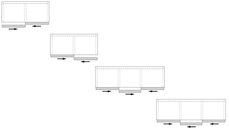 К-т для 3-х дверного шкафа  Space36 макс 28 мм, 80кг, AIR доводчик