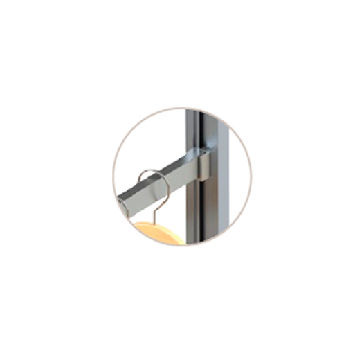 К-т для гардеробной трубы 1200мм, анодир. алюминий