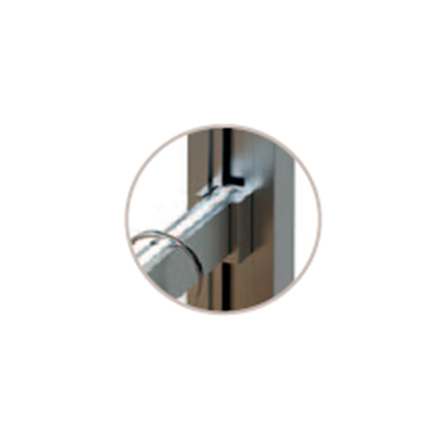 К-т для гардеробной трубы 1200мм, с прокладкой, анодир. алюминий