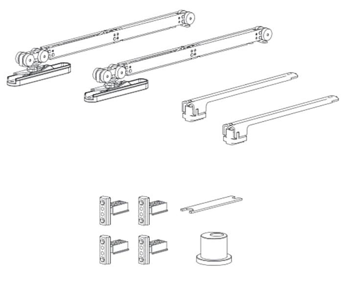 К-т мех-мов с 2-мя Air-доводчиками для серии 120 (широкий) MIN930 мм, 50кг