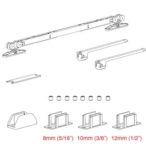 К-т механизмов для системы Vetro 40 доводчик + доводчик, мин. 850мм