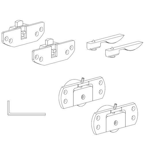 К-т механизмов Scorribase Medio для ДСП (пластик), 50 кг