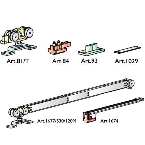 К-т механизмов Staffa normale, 120кг, доводчик+стопор (мин 700мм), без креплений
