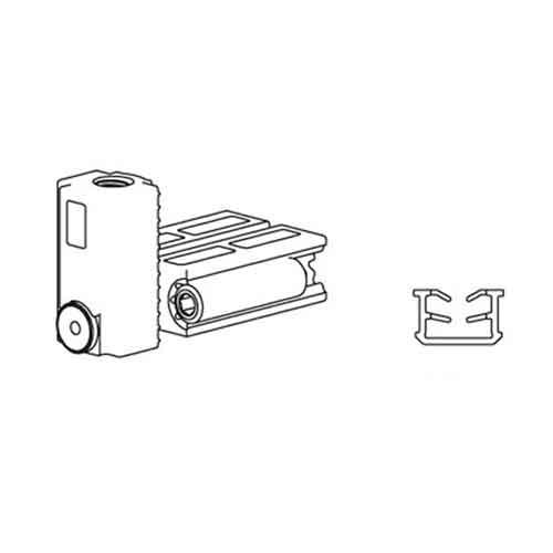 К-т системы New Universal (Eclettica)/1000x2200 GRFS, на 1 дверь, с 2мя довод,80кг, L=1000мм, черный